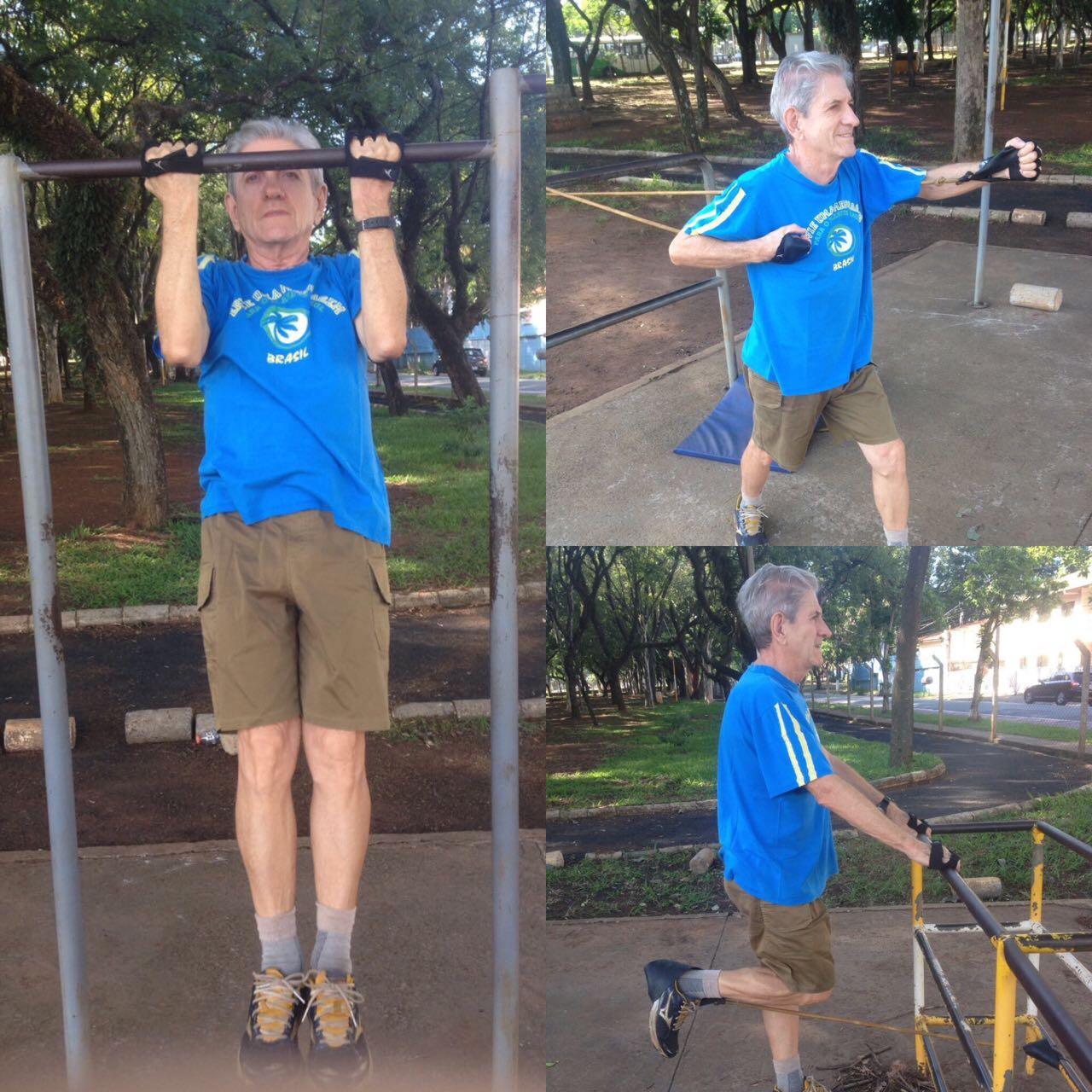 idoso com resultados práticos da atividade física regular.