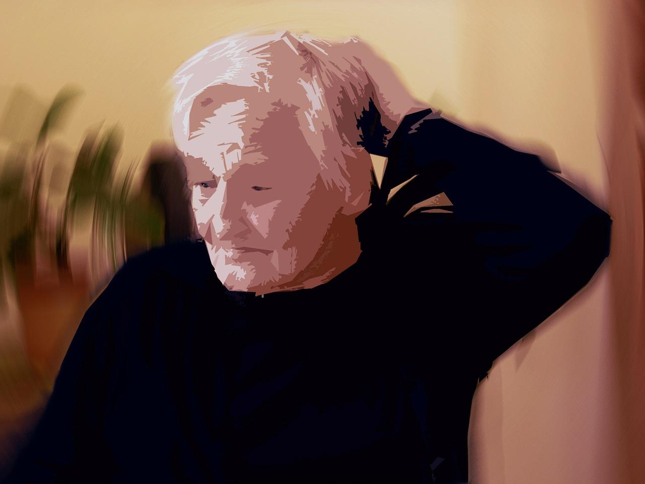 idoso com ansiedade e agitação
